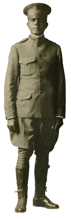 Charles Young standing in full uniform
