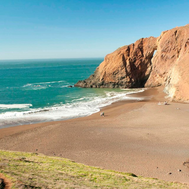 Sandy beach between two bluffs in the Tennessee Valley