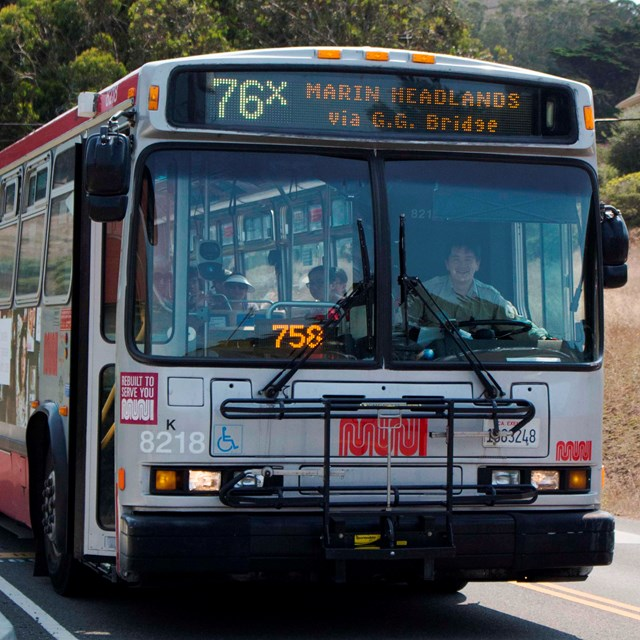 The San Francisco MUNI Line 76x Marin Headlands Express
