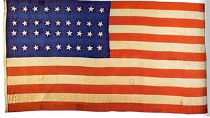 Union flag with 26 stars, 1865