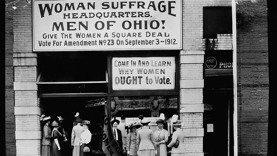 Ohio Woman Suffrage Headquarters. Coll. Library of Congress