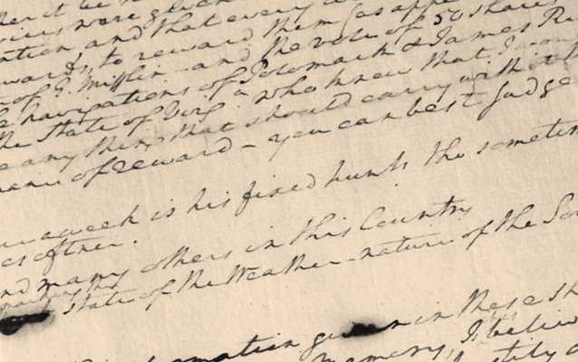 "Photograph of Washington's ""Remarks"" document"