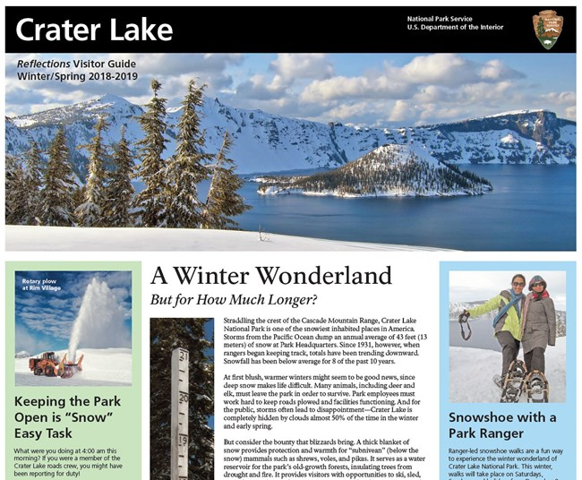 Cover of Winter 2018-19 Park Newspaper