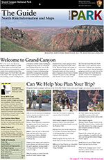 Front cover of 2015 North Rim Guide Newsletter