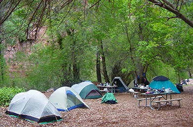 Campsite in Havasupai Campground