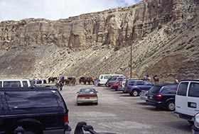 Trailhead parking at Hualapai Hilltop