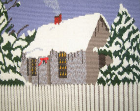 """Cottage in Winter"", by Karen Page Crislip"