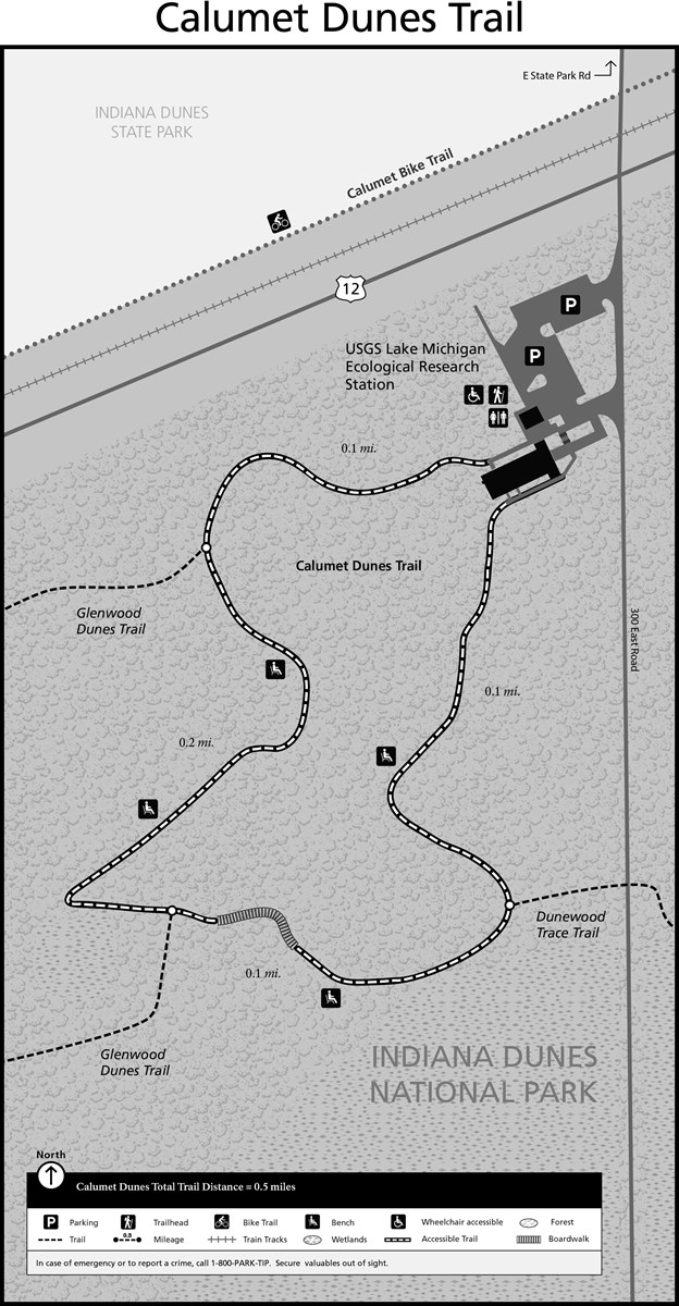 Calumet Dunes Trail Map