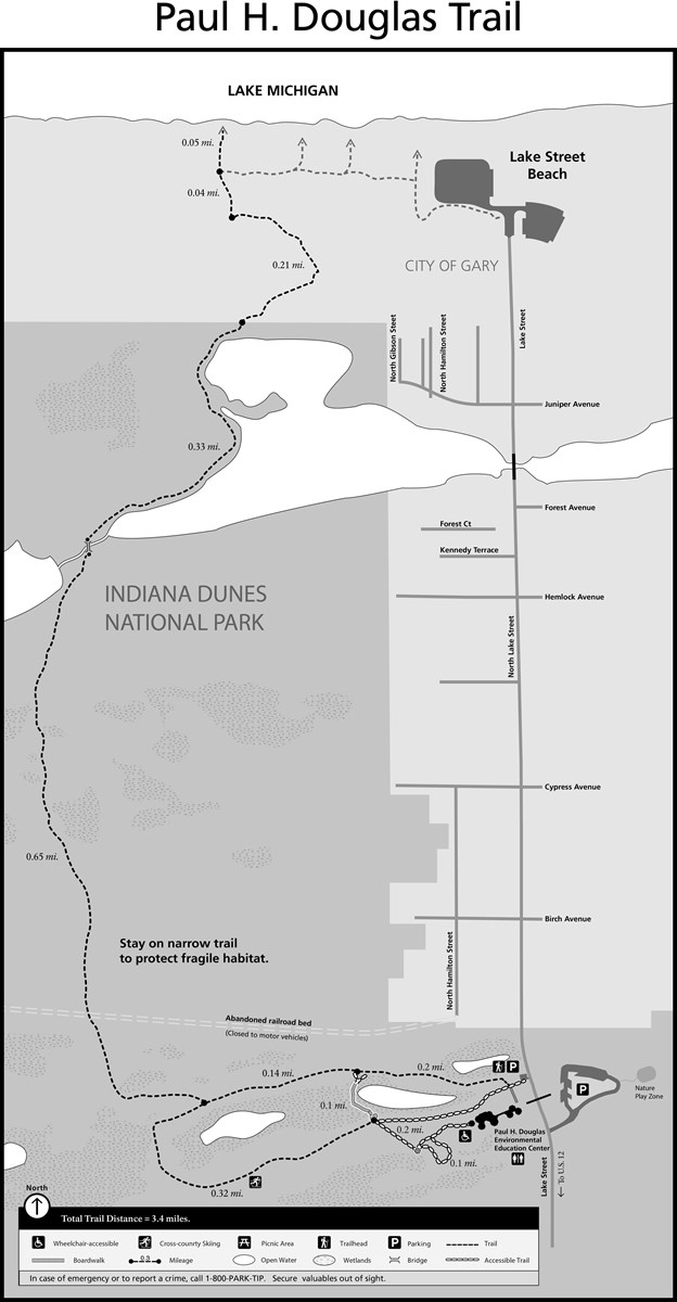 Paul H Douglas Trail Map