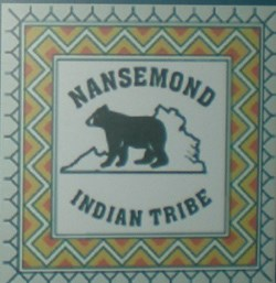 Nansemond Tribal seal a seen in the Historic Jamestowne Visitor Center exhibit about the Nansemond.