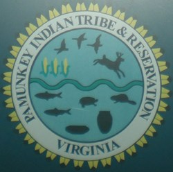 Pamunkey Indian Tribal seal as seen in the Historic Jamestowne Visitor Center exhibit about the Pamunkey Indians.