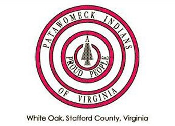 Patawomeck Tribal seal on their flag as seen on their website.