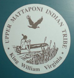 Upper Mattaponi Tribal seal as seen in the Historic Jamestowne Visitor Center exhibit on the Upper Mattaponi.