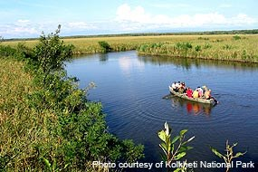 Boating in the Kolkheti Marshes of Kolkheti National Park