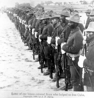 Buffalo Soldiers who fought in Cuba during the Spanish American War