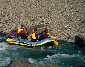 Rafting The Gates of the Aniakchak River.