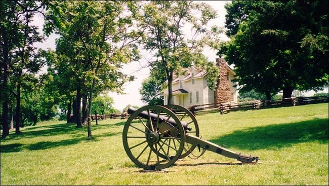 A cannon on a field