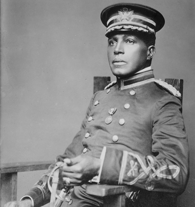 Portrait of Charles Young in military uniform