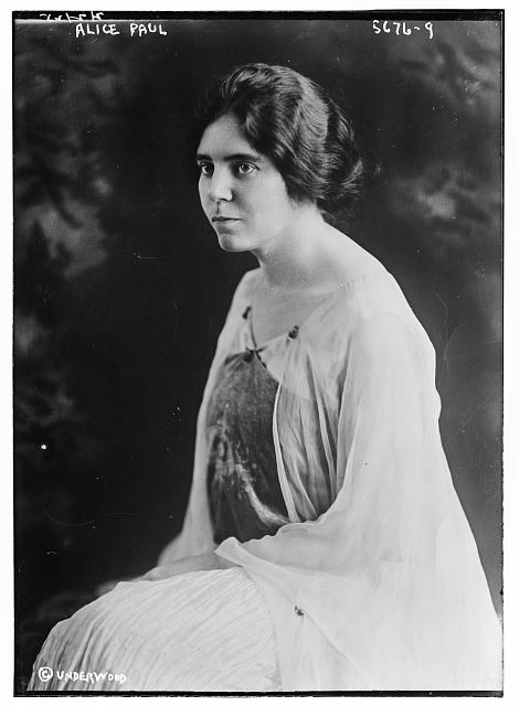 Alice Paul, seated looking towards the right