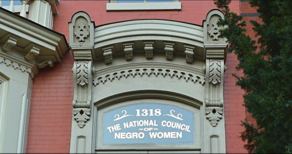 "Transom above door reading ""1318 The National Council of Negro Women"""