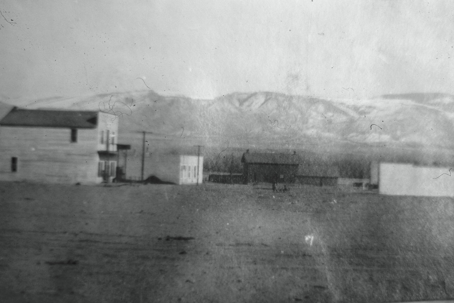 Historic photo of the business district of Kane Wyoming