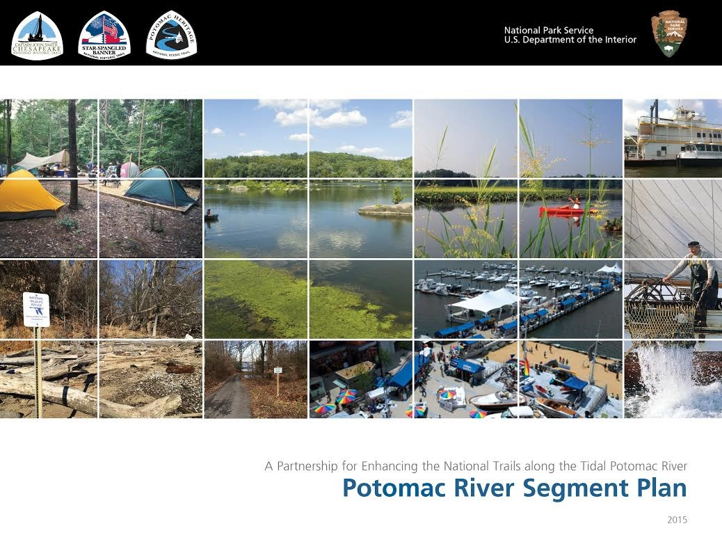 A collage of images of natural resources and recreation along the Potomac River