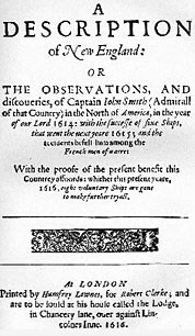 Title page to Smith's book about his New England expedition
