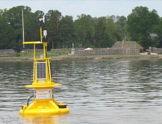 The first CBIBS buoy was deployed at Historic Jamestowne in May 2007 to coincide with the official launch of the Captain John Smith Chesapeake National Historic Trail.