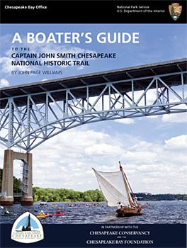 Cover Page of Boaters Guide depicting a replica shallow sailing