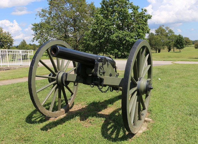 A Civil War cannon.