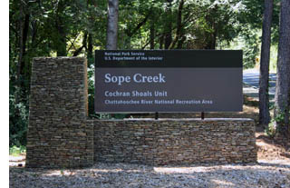 New Sope Creek Entrance Sign.
