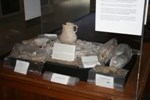 Photo of  an exhibit in Chaco Culture NHP of confiscated artifacts