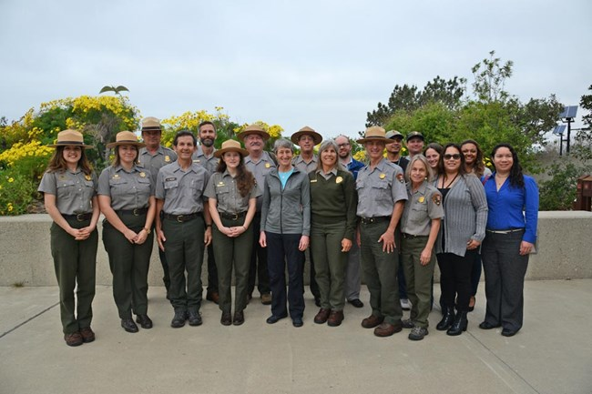 Park rangers gathered together for picture.