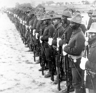 Buffalo Soldiers in formation