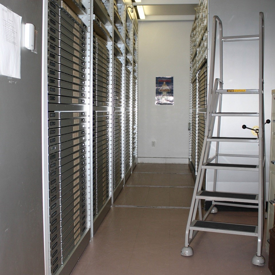 Vault with drawers and ladder