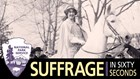 Inez Milholland on horse in suffrage procession