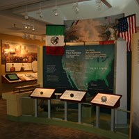 Main exhibit panel at the visitor center.