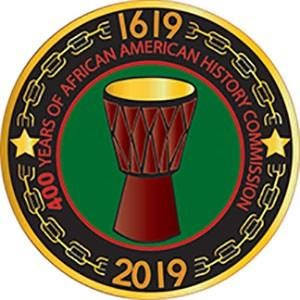 The Commission's logo symbolizes 400 years of African-American history