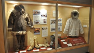 a clothing exhibit at the Iñupiat Heritage Center in Barrow, Alaska