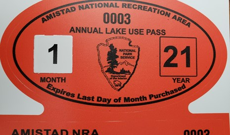 Photo of Annual Lake Use Pass for current year.