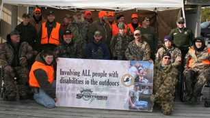 Group photo of hunters participating in the 2010 hunt.