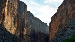 Santa Elena Canyon at the end of the Ross Maxwell Scenic Drive.