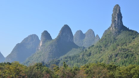 karst towers in china