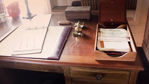 Writing desk in the Tao House