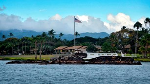 Wreckage of the USS Utah