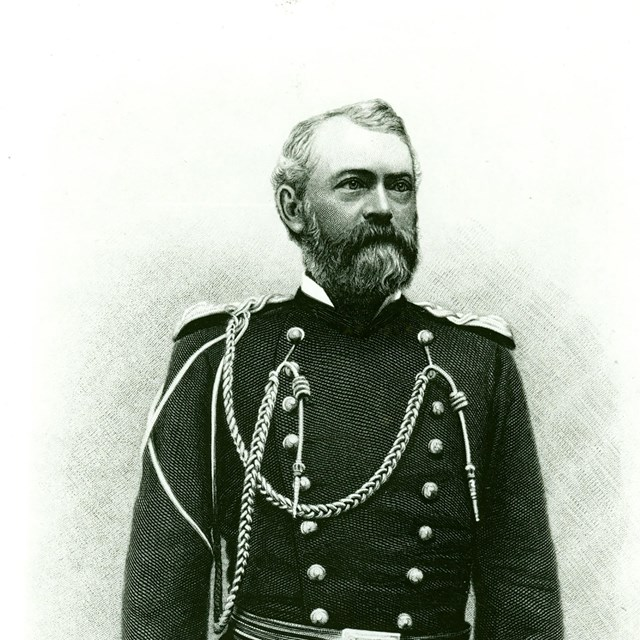 Black & white photograph of Major Dodge