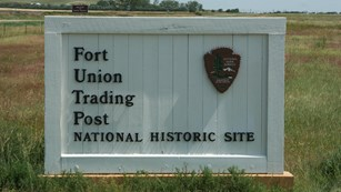 Map showing acreage of Fort Union Trading Post