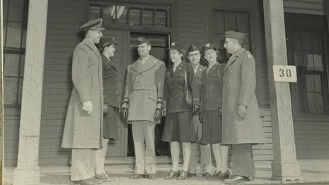 The Women's Army Auxiliary Corps was stationed at Fort Washington during World War II.
