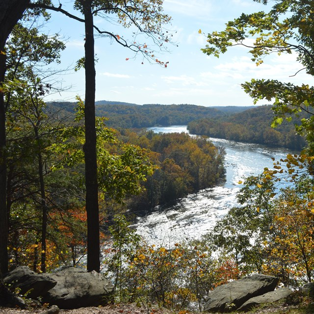Viewpoint from the Murphy-Chambers Farm Trail of the Shenandoah River.