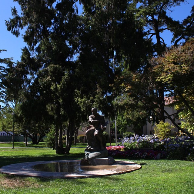 Image of green gardens in Santa Clara.